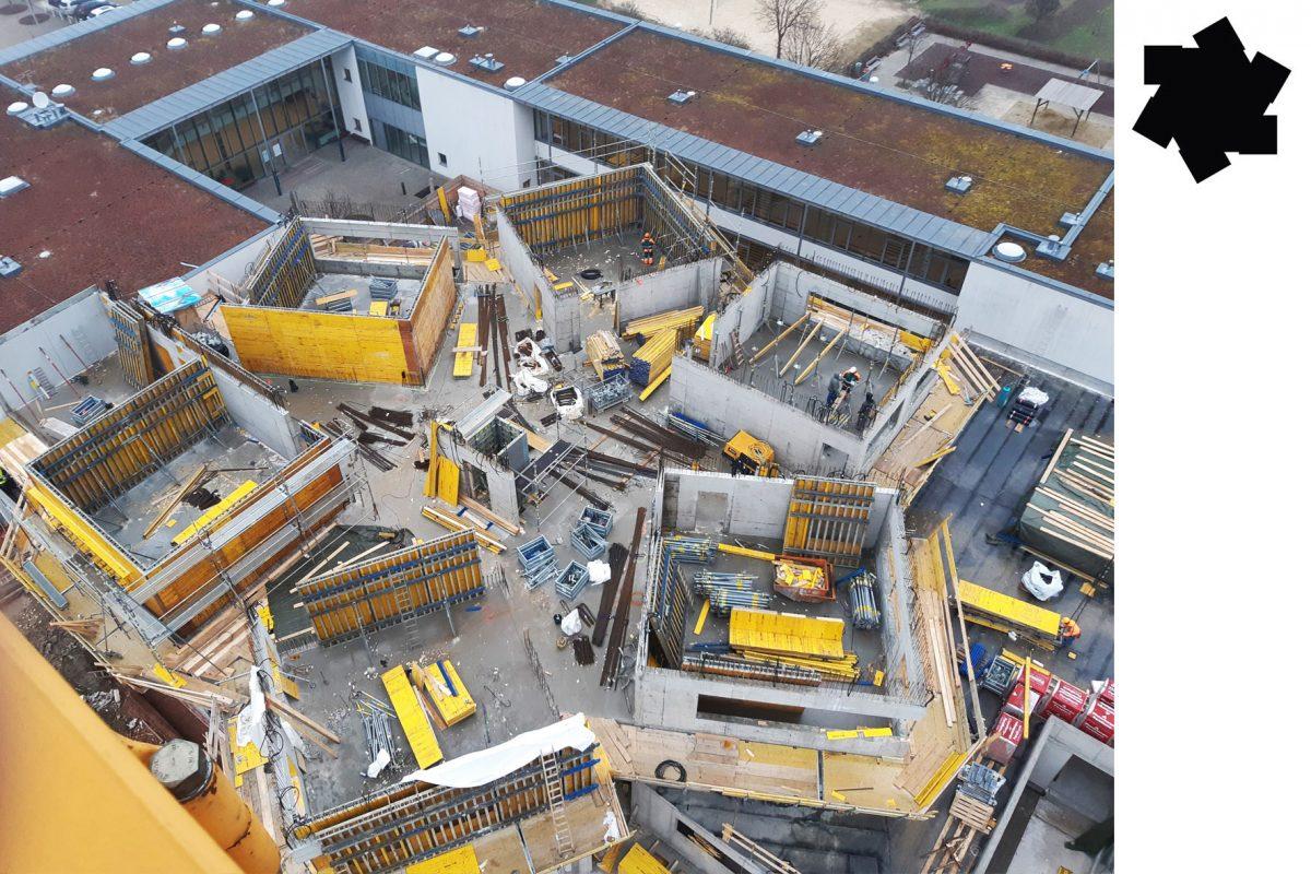 Baufortschritt VS Carlbergergasse – Jänner 2020